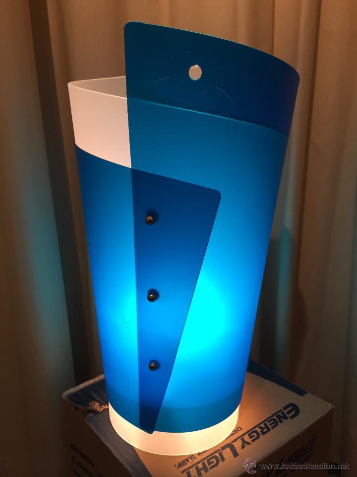 Vintage: LAMPARA DE MESA ITALIANA SLAMP BLU DE SAMUEL PARKER REALIZADA EN OPALFLEX NUEVA - Foto 3 - 80124531
