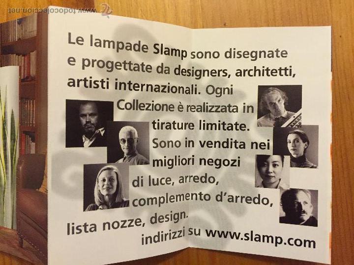 Vintage: LAMPARA DE MESA ITALIANA SLAMP BLU DE SAMUEL PARKER REALIZADA EN OPALFLEX NUEVA - Foto 6 - 80124531