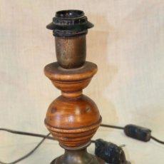 Vintage: PIE DE LAMPARA SOBREMESA EN MADERA. Lote 52424831