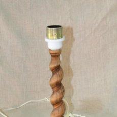 Vintage: PIE DE LAMPARA SOBREMESA EN MADERA. Lote 52452193
