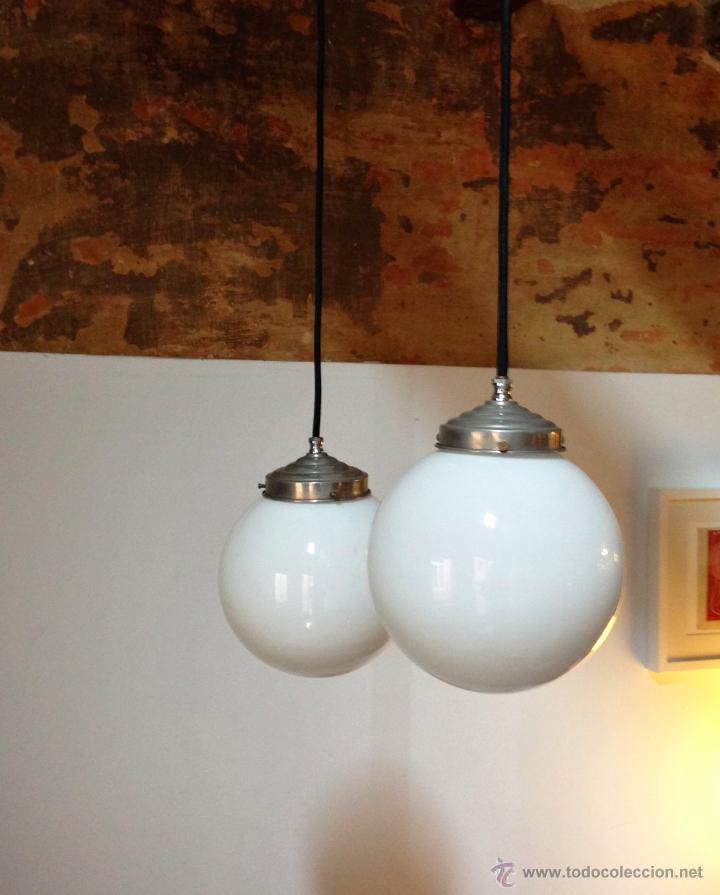 Par de l mparas colgantes l mparas de bola in comprar - Segunda mano lamparas ...