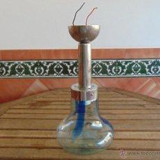 Vintage: LAMPARA DE TECHO CON TULIPA EN FORMA DE PERA O BOMBILLA. Lote 52953716