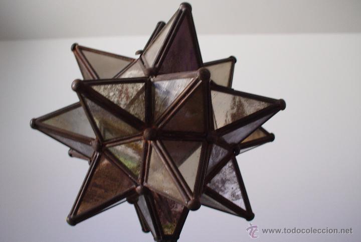 vintage lmpara en forma de estrella de espejos foto