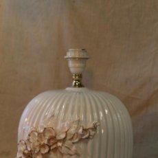 Vintage: PIE DE LAMPARA DE SOBREMESA EN PORCELANA. Lote 53020503