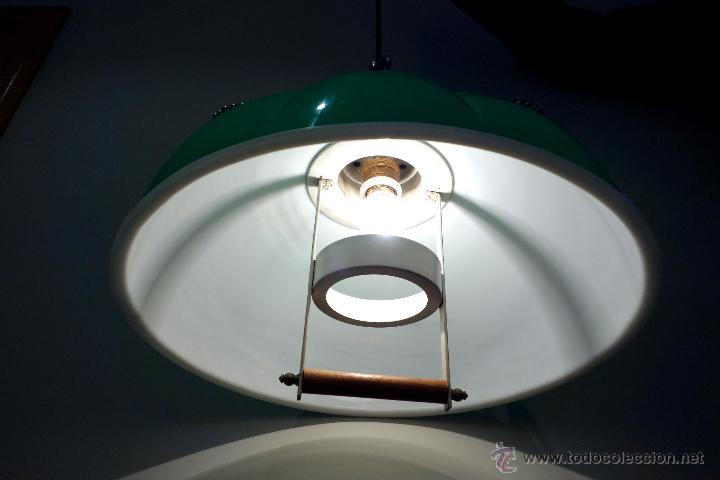Vintage: Lámpara de techo vintage regulable sube baja años 60 70 plástico antigua retro - Foto 4 - 53029583