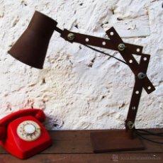 Vintage: FABULOSO GRAN FLEXO ARTICULADO EN HIERRO IDEAL USO Y DECORACION INDUSTRIAL . Lote 53031423