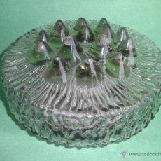 Vintage: IMPRESIONANTE LAMPARA PLAFON APLIQUE TECHO CRISTAL METAL ORIGINAL AÑOS 60 VINTAGE MID CENTURY. Lote 53125600
