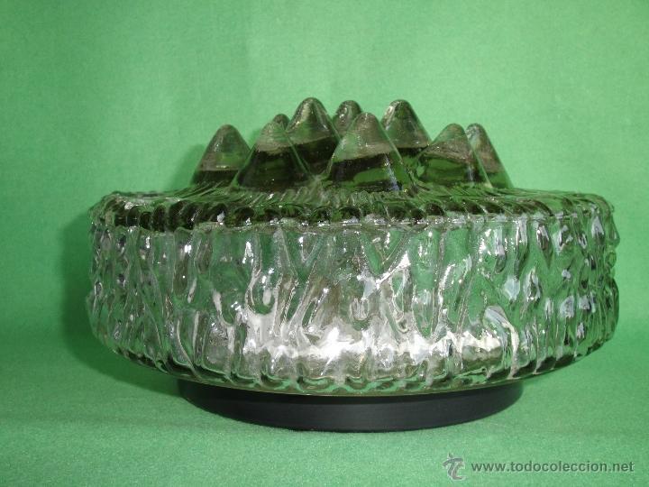 Vintage: IMPRESIONANTE LAMPARA PLAFON APLIQUE TECHO CRISTAL METAL ORIGINAL AÑOS 60 VINTAGE MID CENTURY - Foto 3 - 53125600