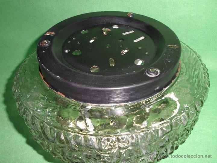 Vintage: IMPRESIONANTE LAMPARA PLAFON APLIQUE TECHO CRISTAL METAL ORIGINAL AÑOS 60 VINTAGE MID CENTURY - Foto 4 - 53125600