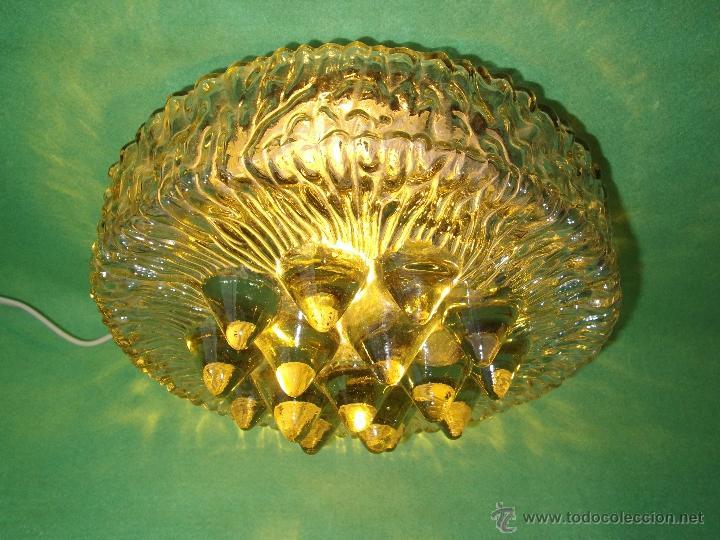 Vintage: IMPRESIONANTE LAMPARA PLAFON APLIQUE TECHO CRISTAL METAL ORIGINAL AÑOS 60 VINTAGE MID CENTURY - Foto 9 - 53125600
