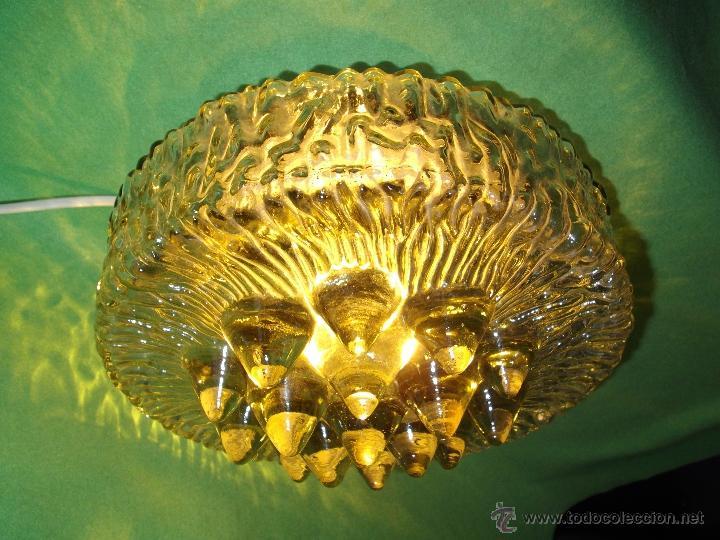 Vintage: IMPRESIONANTE LAMPARA PLAFON APLIQUE TECHO CRISTAL METAL ORIGINAL AÑOS 60 VINTAGE MID CENTURY - Foto 12 - 53125600