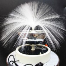 Vintage: LAMPARA ANTIGUA ORIGINAL ICONO SPACE AGE VINTAGE FIBRA OPTICA EN MADERA LACADA METAL CROMO Y RADIO. Lote 53328734