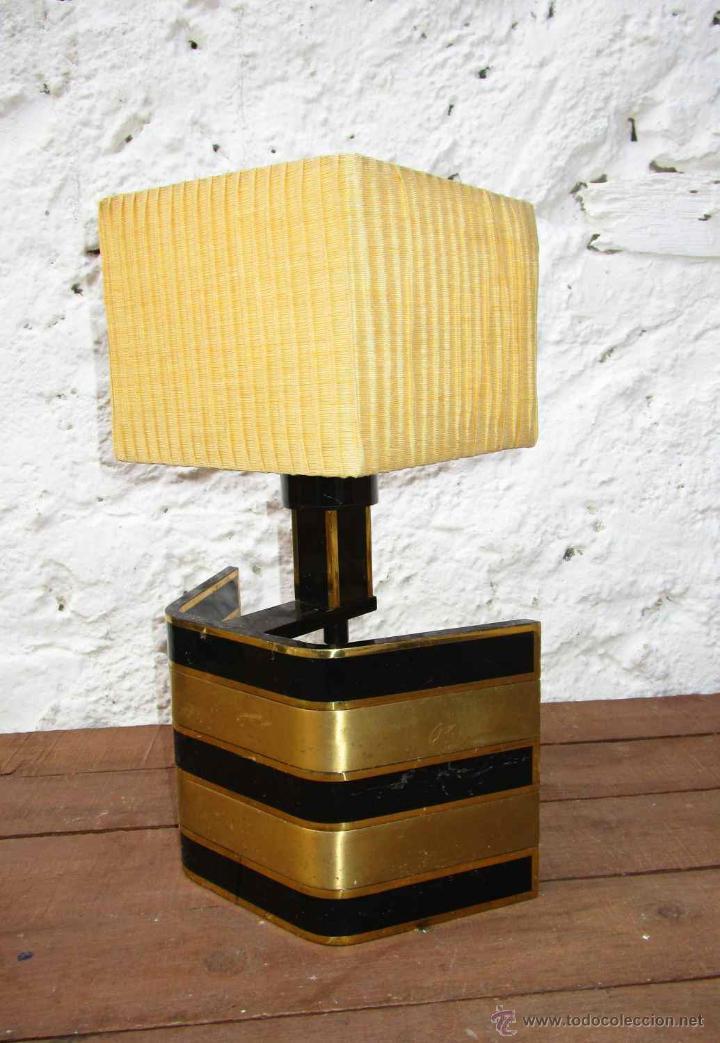 Vintage: LAMPARA VIP VINTAGE BRONCE DISEÑO ROMEO REGA ITALIA SIMILAR WILLY RIZZO - Foto 3 - 53638712