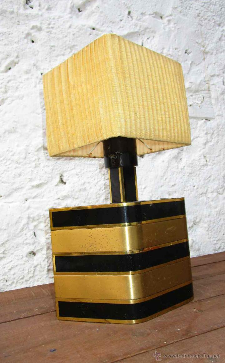 Vintage: LAMPARA VIP VINTAGE BRONCE DISEÑO ROMEO REGA ITALIA SIMILAR WILLY RIZZO - Foto 4 - 53638712