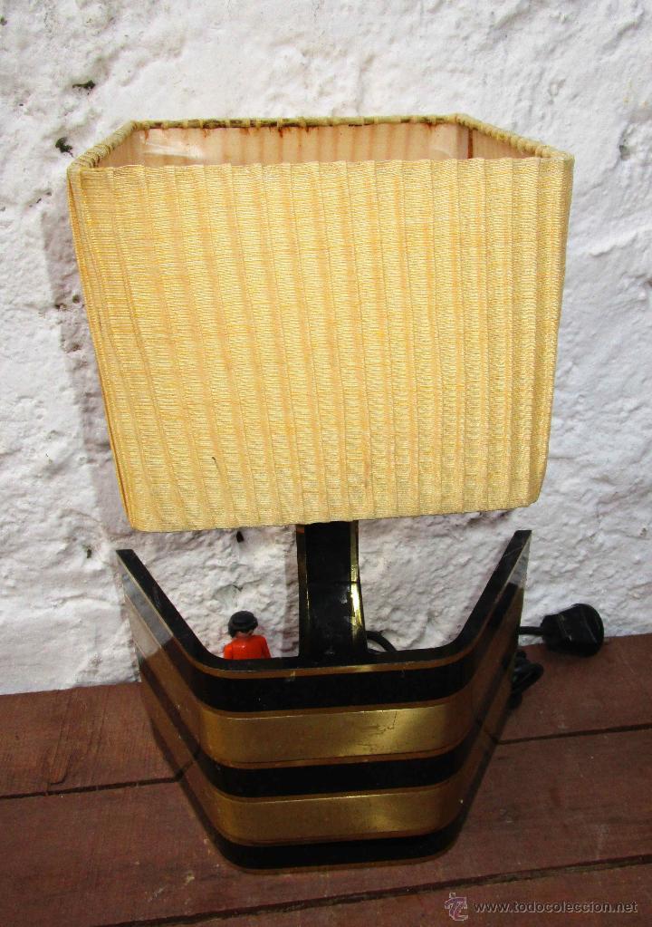 Vintage: LAMPARA VIP VINTAGE BRONCE DISEÑO ROMEO REGA ITALIA SIMILAR WILLY RIZZO - Foto 6 - 53638712