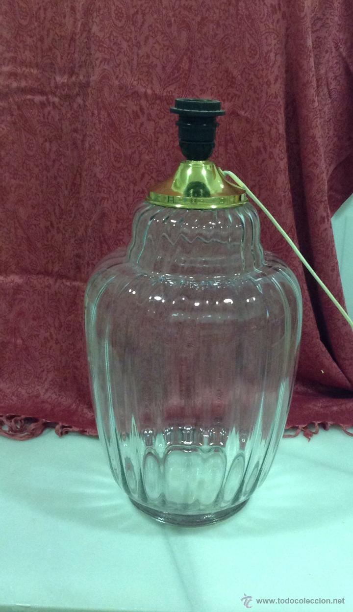 LAMPARA MESA TIPO TIBOR DE CRISTAL (Vintage - Lámparas, Apliques, Candelabros y Faroles)