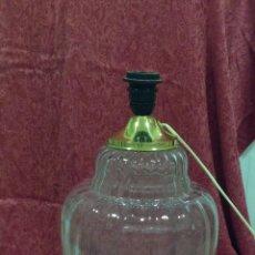 Vintage: LAMPARA MESA TIPO TIBOR DE CRISTAL. Lote 53753670