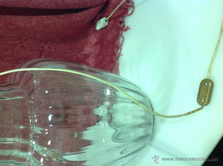 Vintage: LAMPARA MESA TIPO TIBOR DE CRISTAL - Foto 3 - 53753670