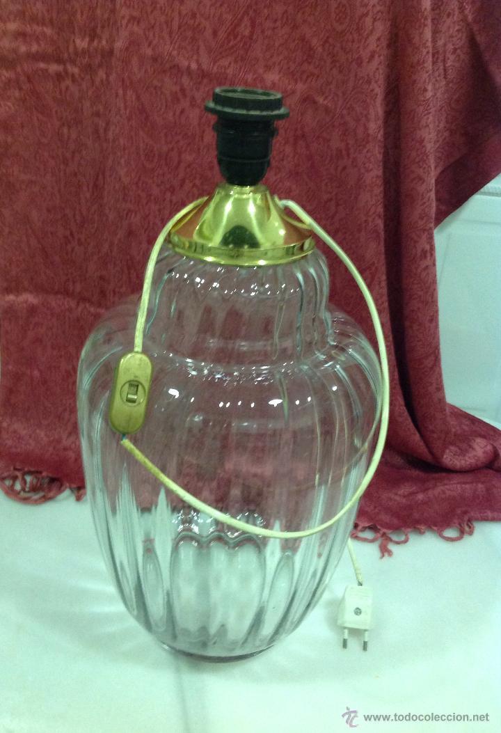 Vintage: LAMPARA MESA TIPO TIBOR DE CRISTAL - Foto 4 - 53753670