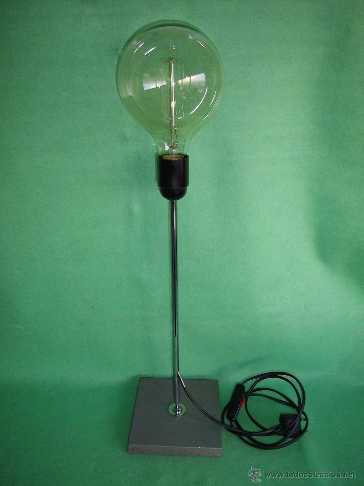 lámpara bombilla Edison Elegante vintage curioso industrial tipo direccional mesa eje minimalista TlFJKc31