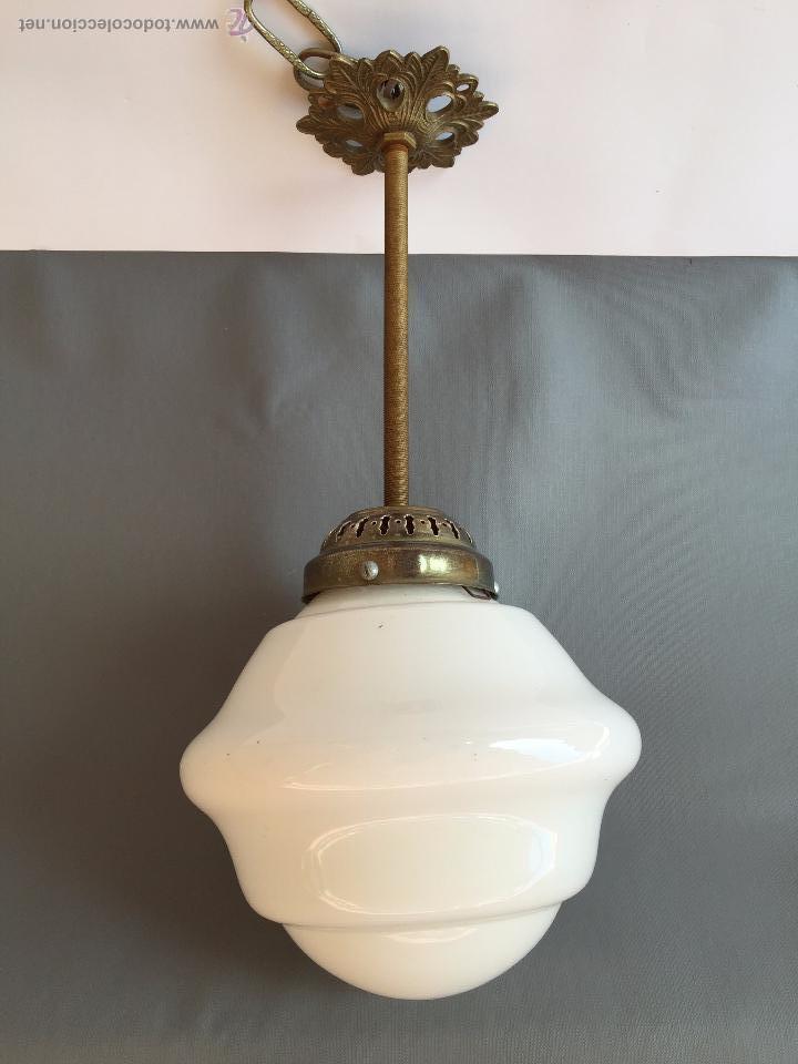 Lampara de techo art deco metal tulipa cristal comprar - Tulipas de lamparas ...