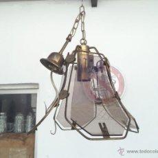 Vintage: LAMPARA DE CRISTAL AÑOS 70. Lote 54060587
