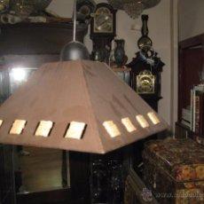 Vintage: LAMPARA DE TECHO METAL Y ENEA NUEVA MEDIDA TULIPA 20 X 17 CM.. Lote 54122198