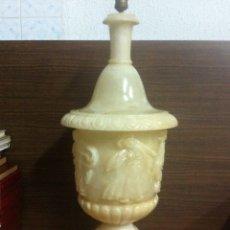 Vintage: LAMPARA DE MARMOL CON FIGURAS EN RELIEVE(CASI 1 METRO DE ALTURA). Lote 54501314