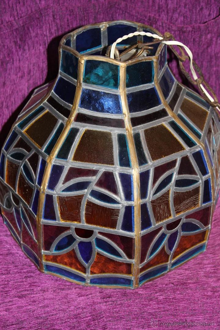 bonita lmpara de techo de cristal de colores tiffany cm