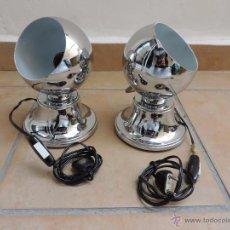 Vintage: LAMPARÁS DE MESA VINTAGE, BOLAS EYEBALL MAGNÉTICAS - CROMADAS SPACE AGE - 70´S. ESTUDIOS DG. Lote 54791626