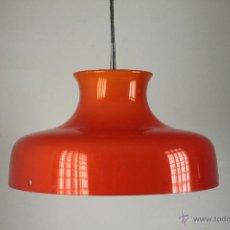 Vintage: LAMPARA NARANJA TECHO VINTAGE PARABOLA CAMPANA RETRO POP AÑOS 70. Lote 54805829