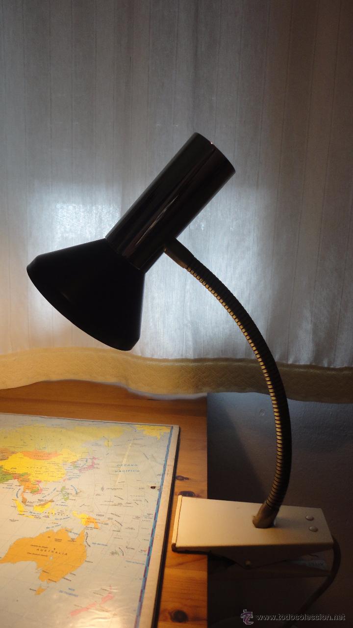 LAMPARA FLEXO DE PINZA.DISEÑO ALEMAN.HOFFMEISTER-LEUCHTEN.RETRO VINTAGE.AÑOS 60,70 (Vintage - Lámparas, Apliques, Candelabros y Faroles)