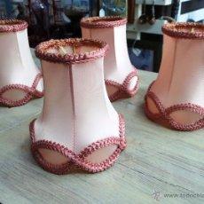 Vintage: ANTIGUAS CUATRO TULIPAS DE PINZA PARA LAMPARA. Lote 54865474