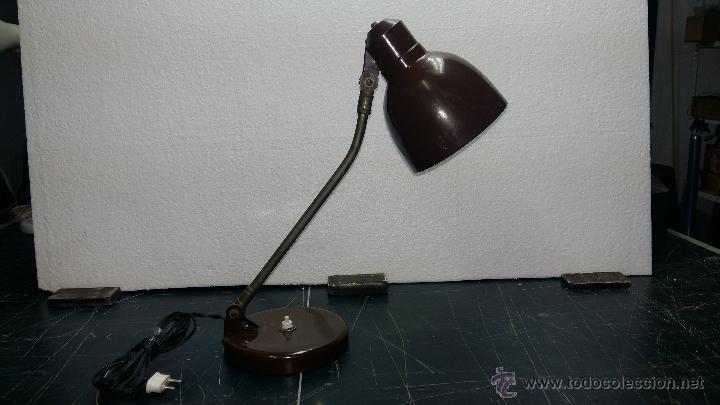 LAMPARA SOBREMESA, AÑOS 50. (Vintage - Lámparas, Apliques, Candelabros y Faroles)