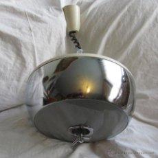 Vintage: LAMPARA DE TECHO METÁLICA CON DIFUSOR AÑOS 70. Lote 54929843