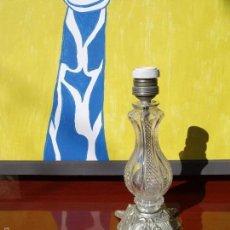 Vintage: LAMPARA TALLADA CRISTAL VINTAGE. Lote 55237276