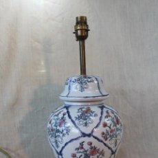Vintage: JARRON PIE DE LAMPARA EN CERAMICA. Lote 55484986