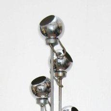 Vintage: LAMPARA DISEÑO ESPAÑOL AÑOS 60 ESTUDIOS DG MADRID EDUARDO DUQUE 5 FOCOS ORIENTABLES EYEBALL. Lote 55571069