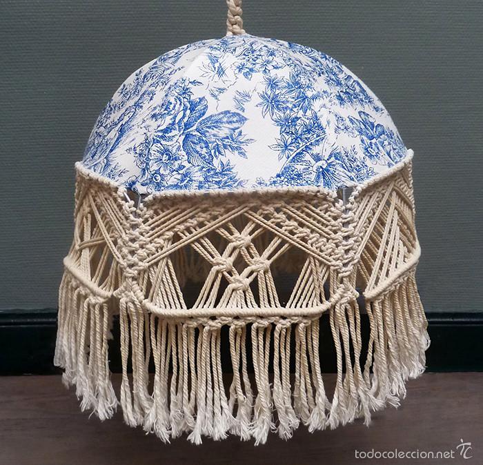 L mpara de techo dise o de nudos macram tela p comprar - Lampara tela techo ...