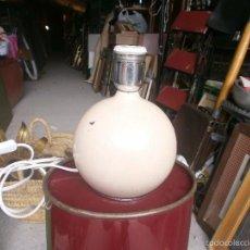 Vintage: LAMPARA DE MESA BOLA METÁLICA COLOR ROSA CLARITO ALTURA 20 CM. ANCHO 15 CM. . Lote 55807252