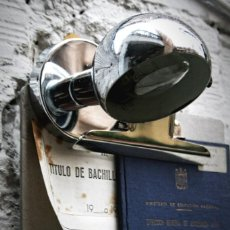 Vintage: FOCO FASE LAMPARA ESTILO INDUSTRIAL, TRANSPORTE GRATIS COMUNIDAD DE MADRID.. Lote 56022006