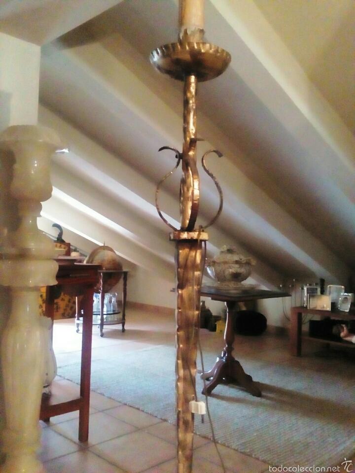 Velon lampara de pie forja dorada a os 50 comprar l mparas vintage apliques candelabros y - Lampara de pie vintage ...