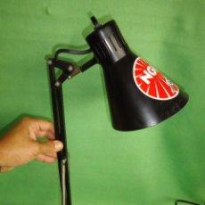 Vintage: FUNCIONAL LAMPARA METALARTE ARMA FLEXO VINTAGE INDUSTRIAL MUELLES DISEÑO ANCLAJE PARED METAL. Lote 56474331
