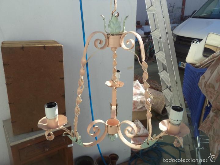 Vintage: lampara hierro - Foto 2 - 56594464