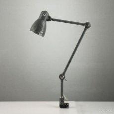 Vintage: LAMPARA BLOC APLIQUE ARTICULADA INDUSTRIAL GRIS ESPAÑA AÑOS 50. Lote 56633536