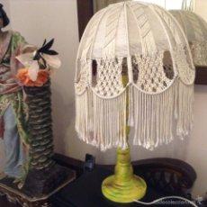 Vintage: LAMPARA DE MESA REALIZADA EN CUERDA. Lote 56668685