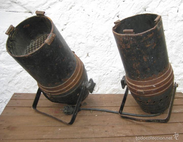 2 FOCOS PAREJA CINE TEATRO O SIMILAR IDEAL LAMPARAS , LAMPARA INDUSTRIAL APLIQUE (Vintage - Lámparas, Apliques, Candelabros y Faroles)