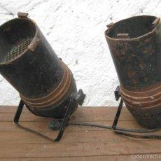 Vintage: 2 FOCOS PAREJA CINE TEATRO O SIMILAR IDEAL LAMPARAS , LAMPARA INDUSTRIAL APLIQUE. Lote 56830925
