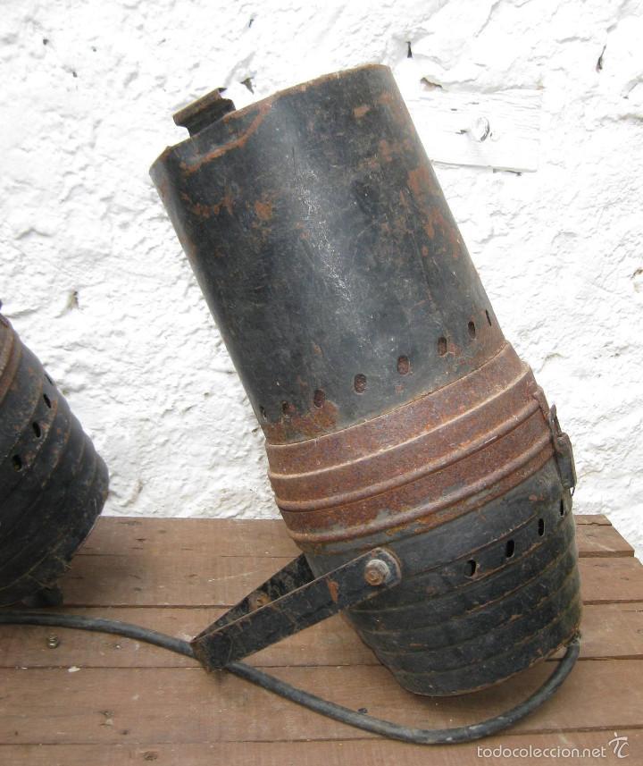 Vintage: 2 FOCOS PAREJA CINE TEATRO O SIMILAR IDEAL LAMPARAS , LAMPARA INDUSTRIAL APLIQUE - Foto 2 - 56830925