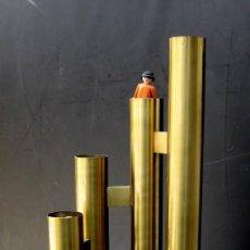 Vintage: VIP! GRAN LAMPARA VINTAGE TUBULAR BRASS TIPO SCIOLARI AÑOS 60 . Lote 56857281